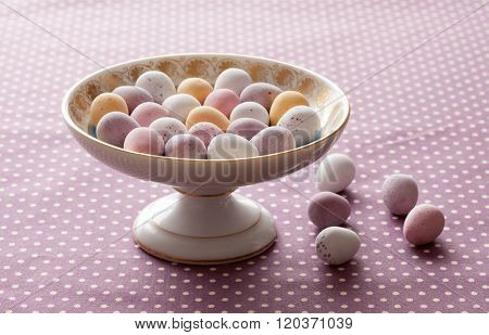 Chocolate Mini Eggs In A Bowl