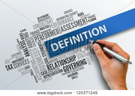 DEFINITION | Business Abstract Concept