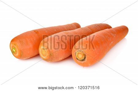 Unpeeled Fresh Carrot On White Background