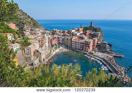 Vernazza Village , Cinque Terre , Italy