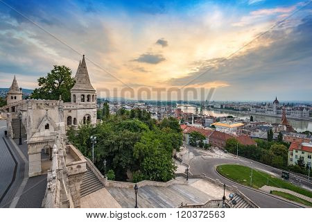Fisherman's Bastion , Budapest , Hungary