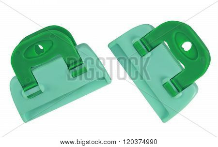 Clamps Isolated - Green-blue