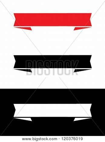 Vector Banner and Headliner Set in Red, Black and Reverse