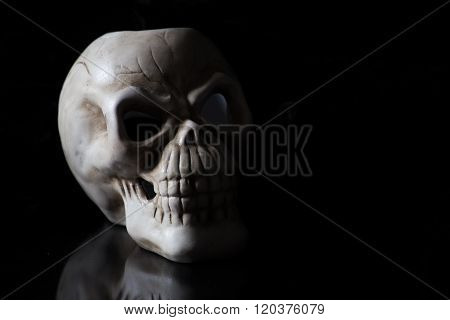 Shadowy Skull On Black