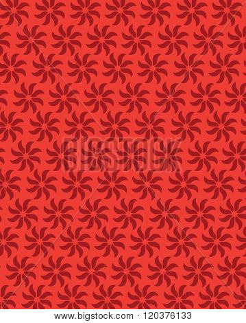 Red vector floral wall paper and pattern