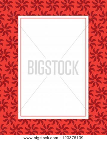 Red Vector Floral Frame and Invitation Template