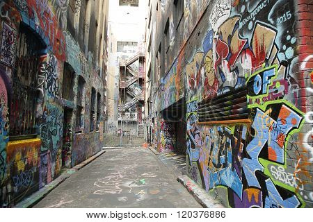Graffiti art by KIL Productions at Hosier lane in Melbourne