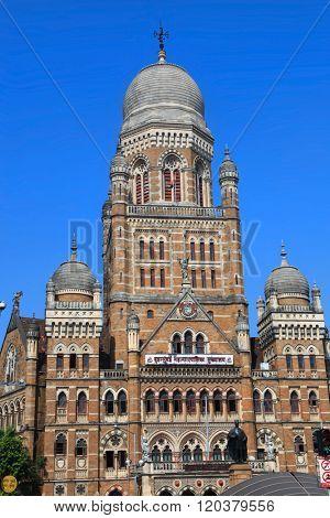 MUMBAI, INDIA - December 6, 2015 : Historic Municipal Corporation building in Mumbai, India.