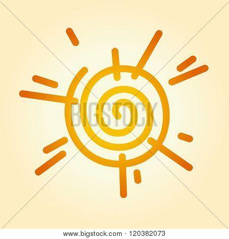 Stylized Sun As A Twirl