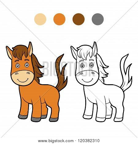 Coloring Book, Coloring Page (horse)