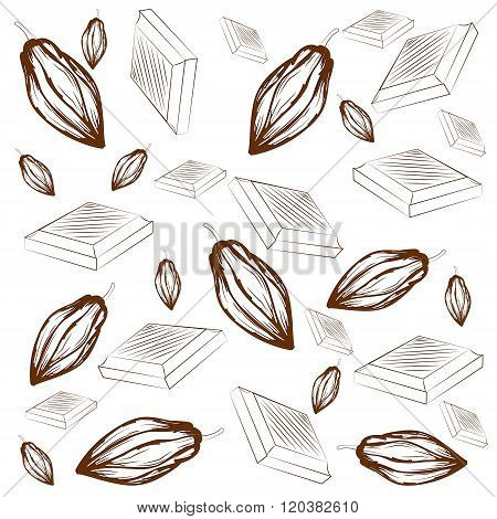 Pattern Of Cocoa And Chocolate