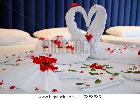 Luxury Bedroom In A Hotel Suite