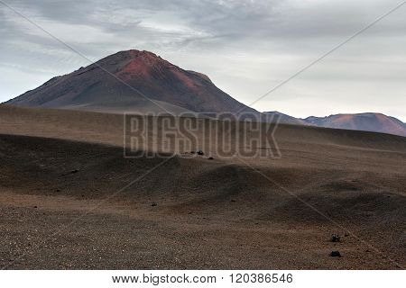 Lndscape of volcanic mountains Timanfaya National Park, Lanzarote, Canary Islands