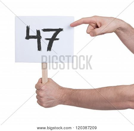 Sign With A Number, 47