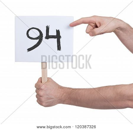 Sign With A Number, 94
