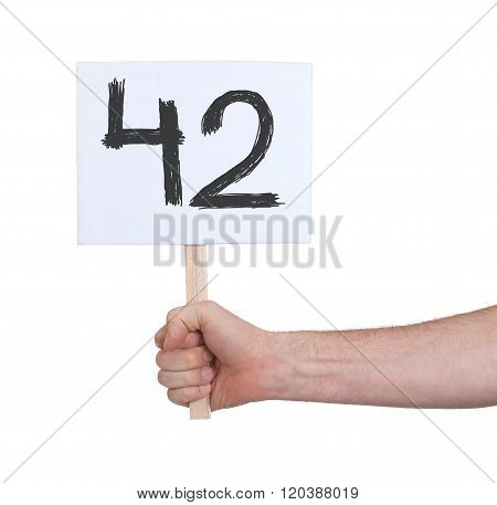 Sign With A Number, 42