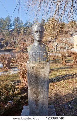 Monument To Marko Masanovic In Cetinje, Montenegro