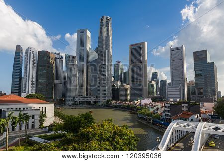 Singapore River With Skyline