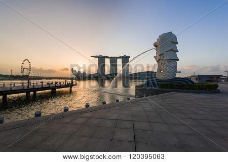 Beautiful Sunrise Of Iconic Landmarks