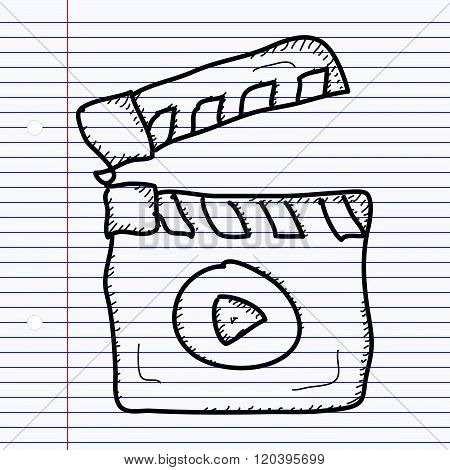 Simple Doodle Of A Clap Board