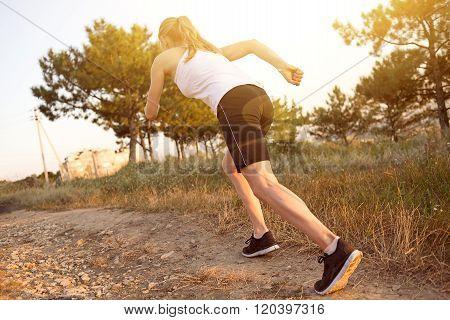 Woman jogger outside