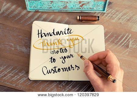 Text Handwrite Thank You Notes To Your Customers