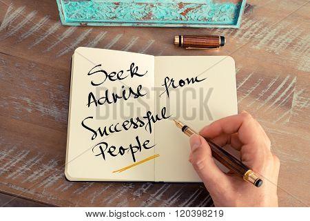 Written Text Seek Advise From Successful People