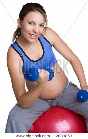 Pregnant Woman Working Out