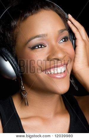 Black Woman with Headphones