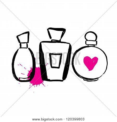Set of bottles perfume