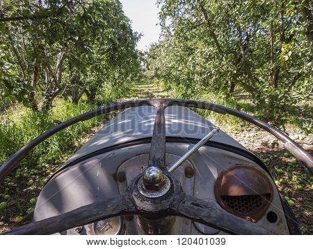 Old tractor on a farm in Shepparton, Victoria, Australia