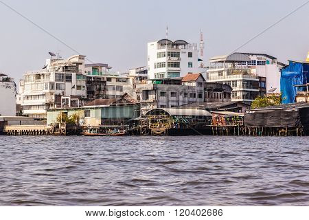 Thai River Side Slums