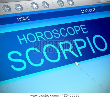 Scorpio Horoscope Concept.