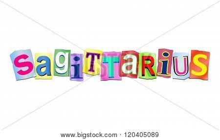 Sagittarius Word Concept.