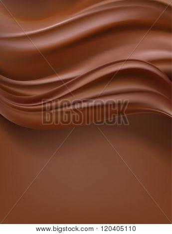 creamy dark chocolate vertical abstract background. vector
