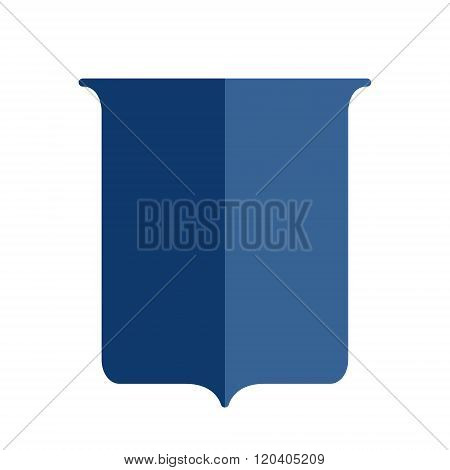 Heraldic shield flat style