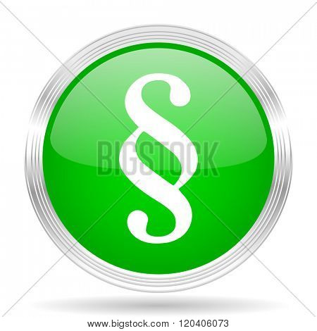 paragraph green modern design web glossy icon