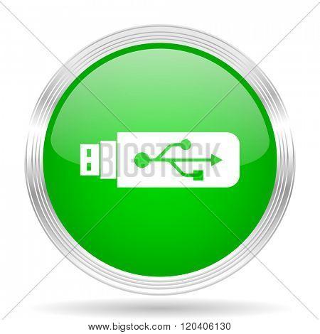 usb green modern design web glossy icon