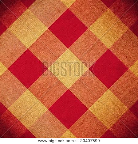 Red And Yellow Diamond Pattern