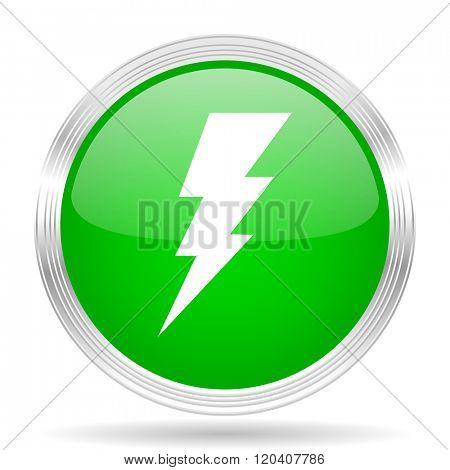 bolt green modern design web glossy icon