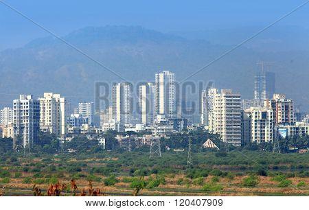 Mulund landscape suburbs of Mumbai city in India