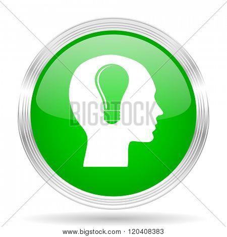 head green modern design web glossy icon