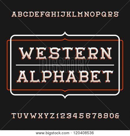 Western alphabet vector font.