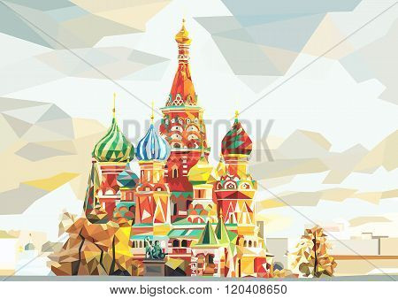 moscow temple on the red square. russia
