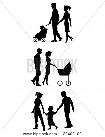 Family On Walk Set