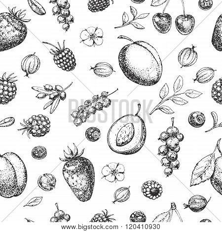 Seamless vector hand drawn pattern