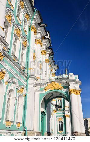 Winter Palace in Saint Petersburg. Hermitage. Landmark of Russia.