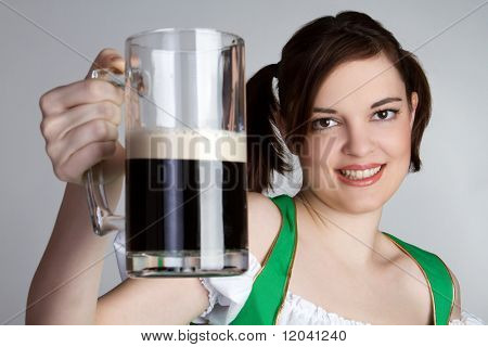 Irish Girl Holding Beer