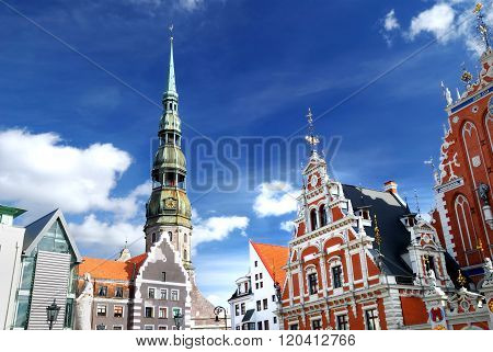 View of Riga historical centre with its main landmarks.