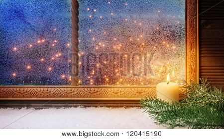 1. Advent, Window Decorations